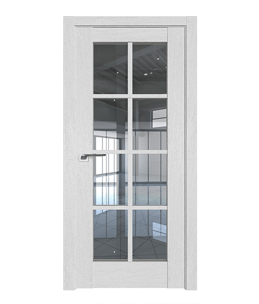 ДП 101XN, цвет Монблан, стекло Прозрачное