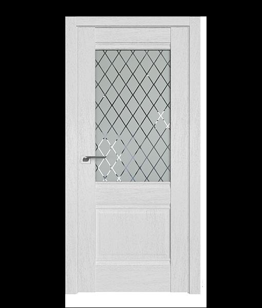 ДП 2XN, цвет Монблан, стекло Ромб