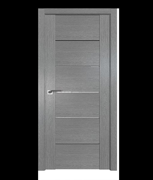 ДП 99XN, цвет Грувд серый, стекло Белый триплекс