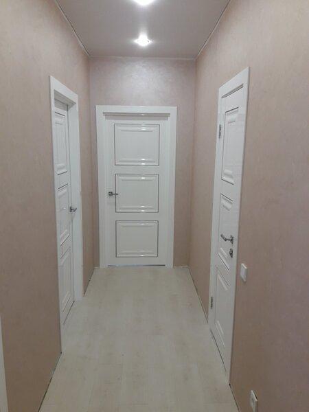 Установка м/к дверей в глянцевом покрытии