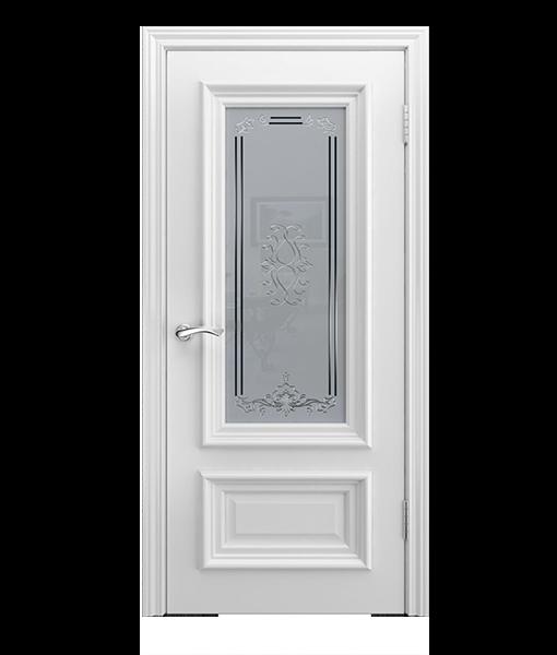 Модель B-1 (стекло) со стеклом, белая эмаль